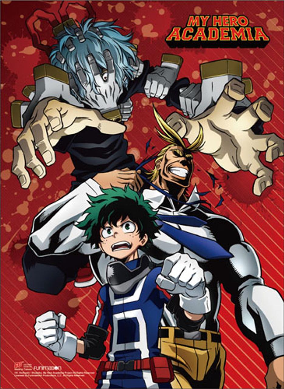 My Hero Academia Shigaraki Attacking All Might And Deku Wall Scroll