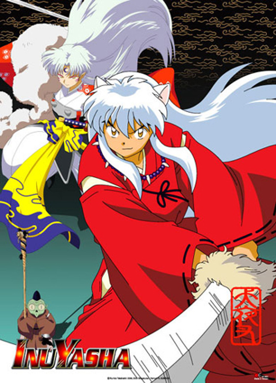 Inuyasha And Sesshomaru Ready To Fight Wall Scroll