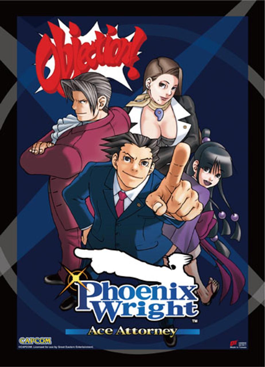 Ace Attorney Phoenix Maya Godot And Mia Posing Wall Scroll