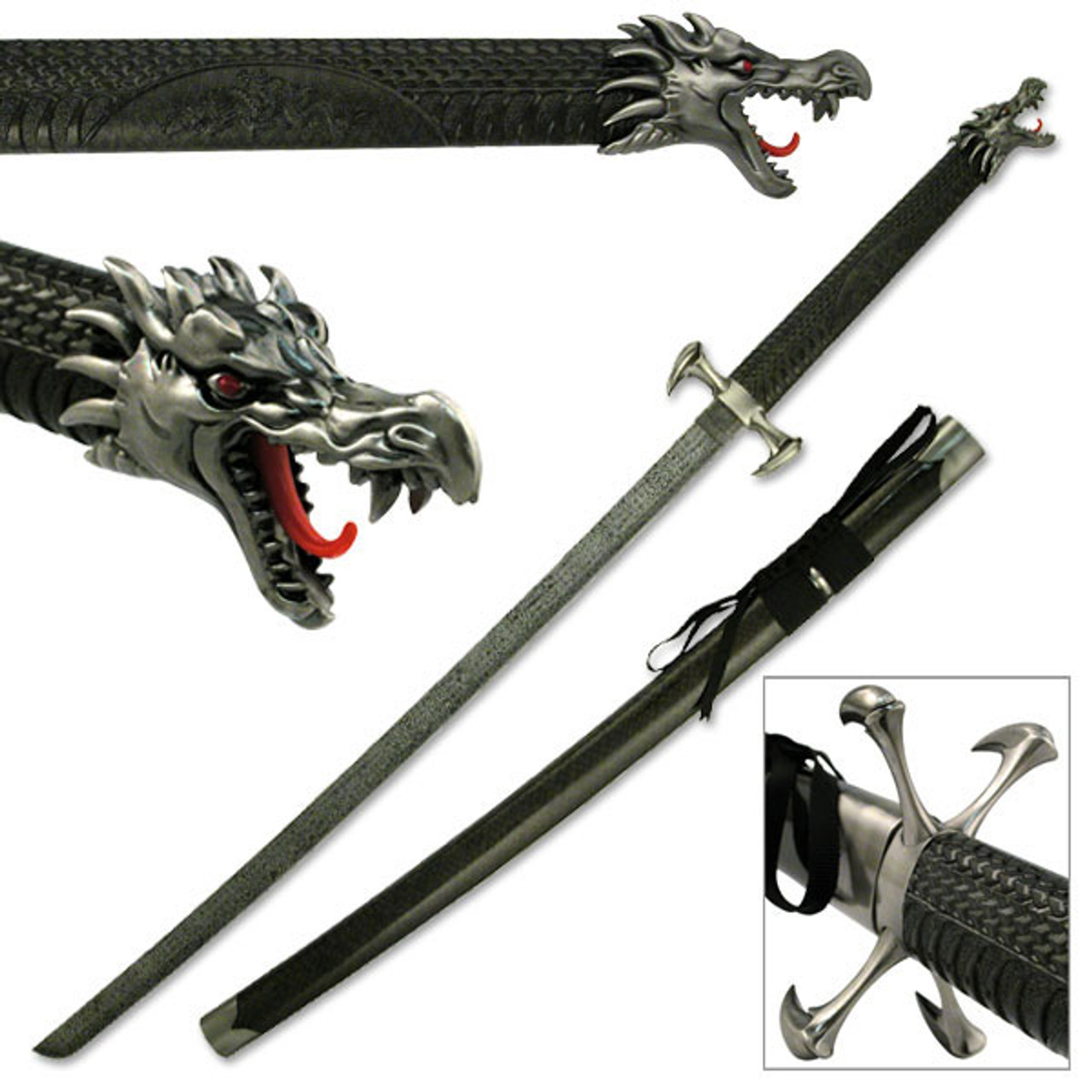 "40.5/"" Bleach Black /& White Anime Japanese Fighting Movie Fantasy Sword Katana"