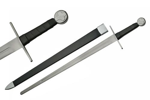 """40"""" Battle Ready Full Tang Cross Pommel Medieval Short Sword"""