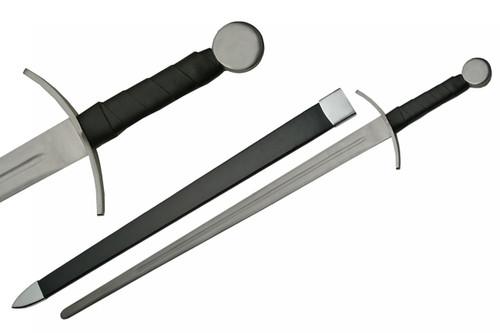 "40"" Battle Ready Full Tang Curved HandGuard Medieval Short Sword"