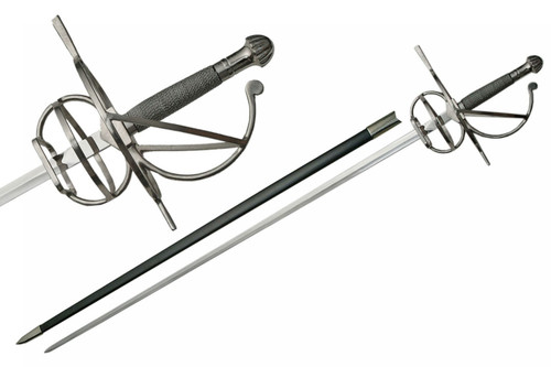 """Wire Wrapped Handle Basket Hilt French Rapier 43.5"""""""