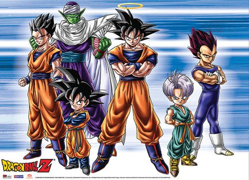 Dragon Ball Z - Goku, Gohan, Vegeta, Goten, Trunks, And Piccolo Wall Scroll