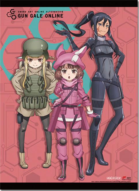 Sword Art Online Alternative GGO - LLENN, Pitohui, And Miyu Wall Scroll