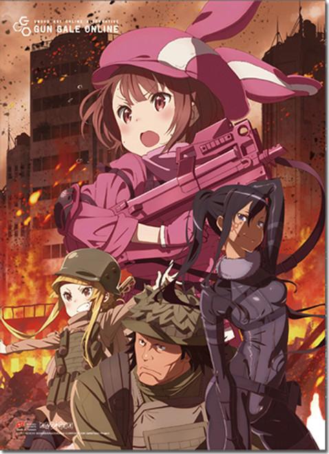 Sword Art Online Alternative GGO - LLENN, Pitohui, Miyu, And Goushi Wall Scroll