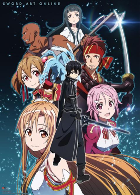 Sword Art Online - Main Cast Against The Stars Wall Scroll