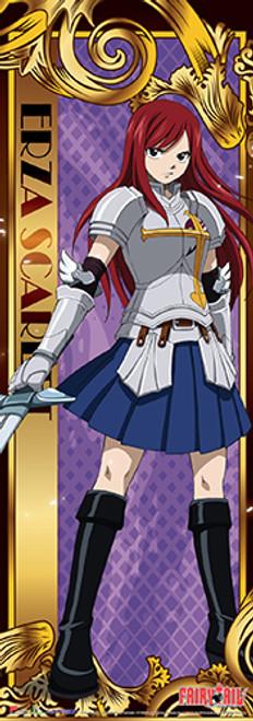 "Fairy Tail - Erza Sword Drawn 67"" Wall Scroll"