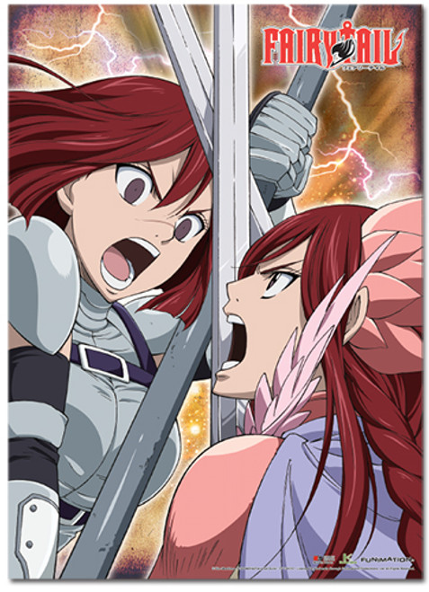 Fairy Tail S3 - Erza Scarlet Vs Erza Knightwalker Wall Scroll