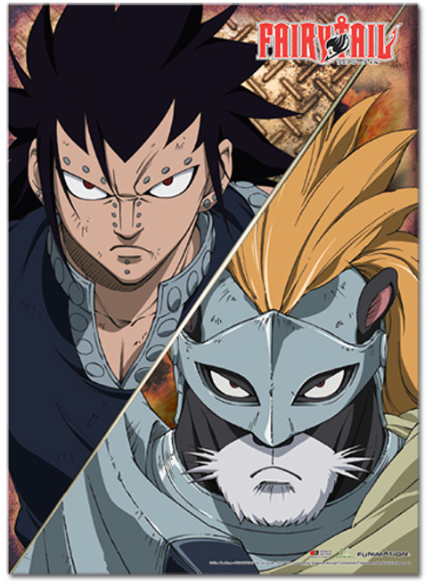 Fairy Tail S3 - Gajeel And Panther Lily Wall Scroll