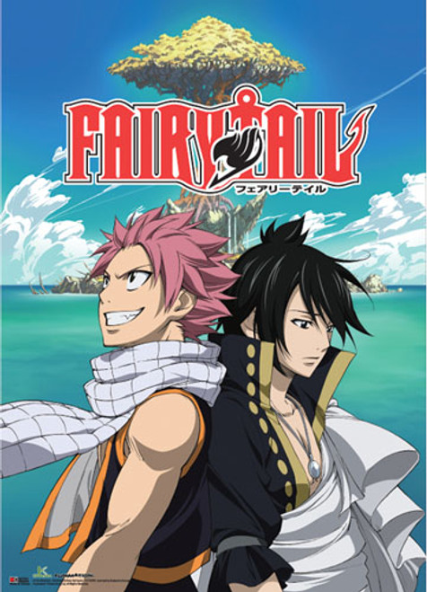 Fairy Tail S4 - Natsu And Zeref Key Art Wall Scroll