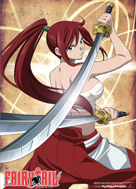 Fairy Tail - Erza In Clear Heart Clothing Outfit Wall Scroll