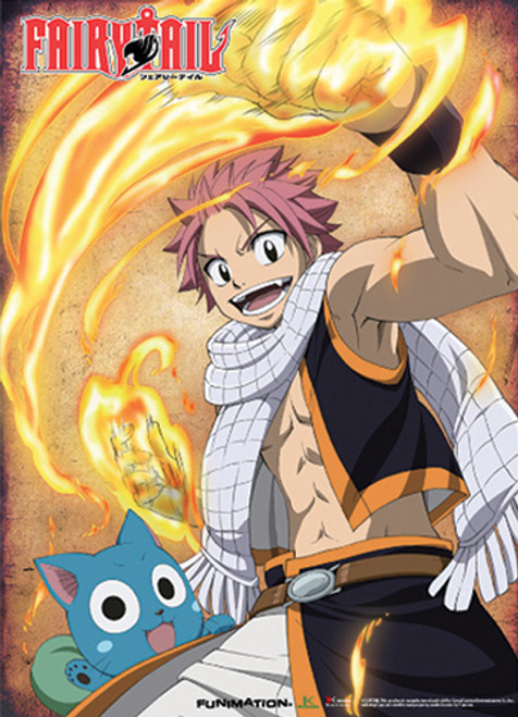 Fairy Tail - Natsu Flaming Fist's Wall Scroll