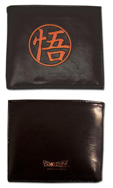 Dragon Ball Z Black and Orange Go Symbol Bi-Fold Wallet