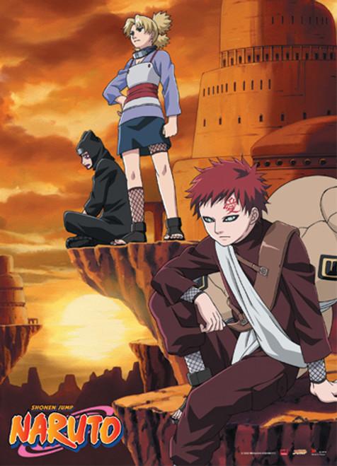 Naruto - Gaara, Kankuro, And Temari Wall Scroll