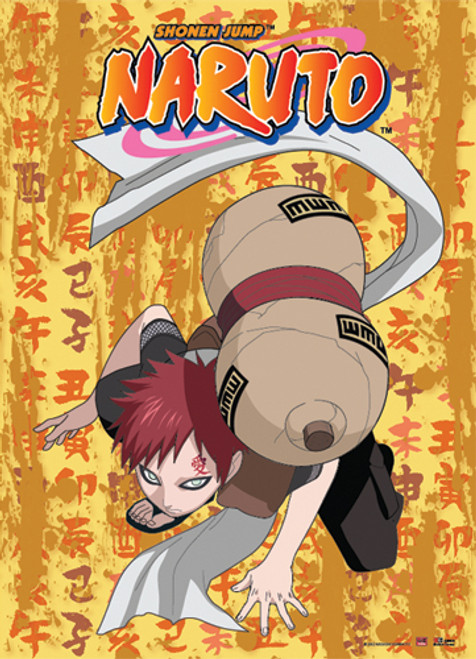 Naruto - Gaara Bent Ready To Fight Wall Scroll
