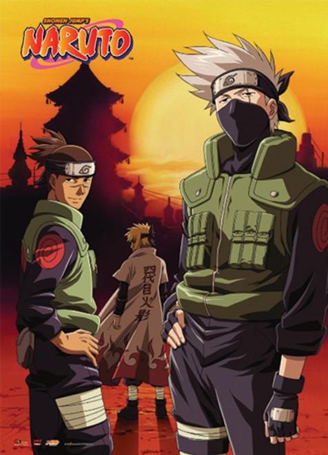 Naruto - Kakashi, Iruka, And Minato Wall Scroll