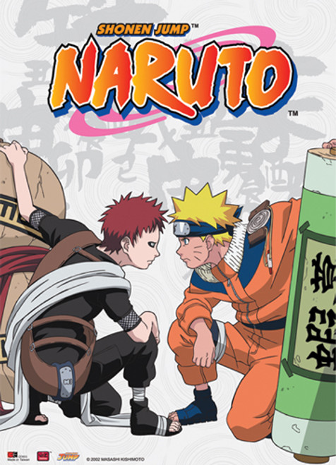 Naruto - Naruto Vs Gaara Chunin Exams Wall Scroll