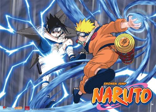 Naruto - Naruto's Rasengan Vs Sasuke's Chidori Wall Scroll