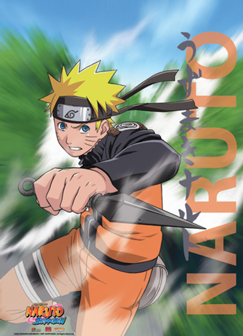 Naruto Shippuden - Naruto With Kunai Wall Scroll