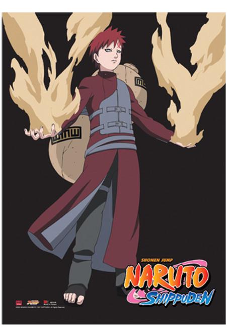 Naruto Shippuden - Gaara Fighting Pose Wall Scroll