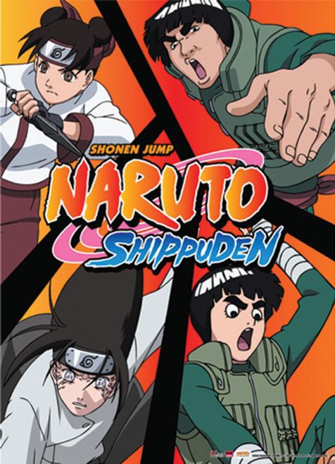 Naruto Shippuden - Team Guy Fighting Pose Wall Scroll