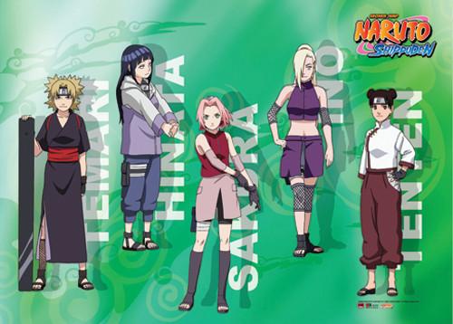 Naruto Shippuden - Main Girl Cast Wall Scroll