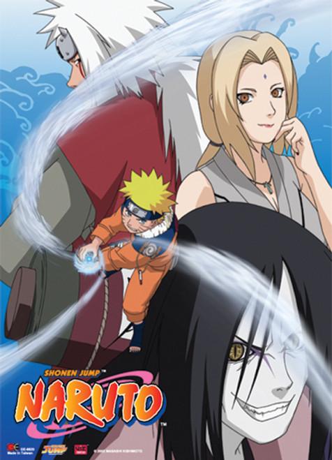 Naruto - Naruto, Jiraiya, Tsunade, And Orochimaru Wall Scroll