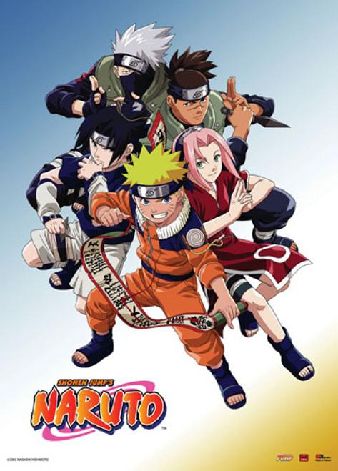 Naruto - Naruto, Sasuke, Sakura, Kakashi, And Iruka Wall Scroll