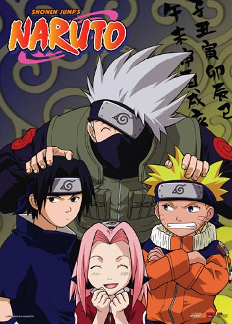 Naruto - Naruto, Sasuke, Sakura, And Kakashi Wall Scroll