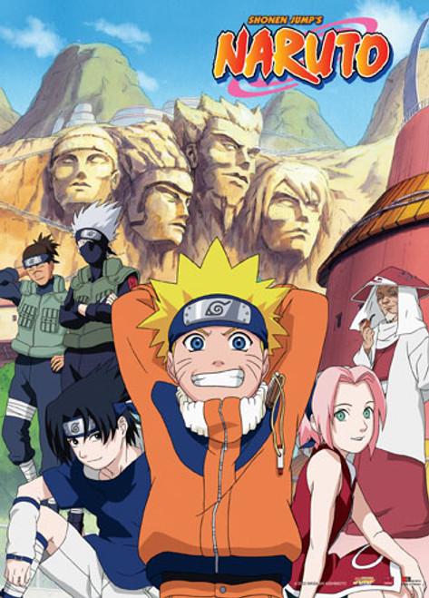 Naruto - Team 7 And Third Hokage Wall Scroll