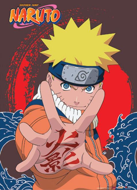 Naruto - Naruto With Symbol On His Palm Wall Scroll