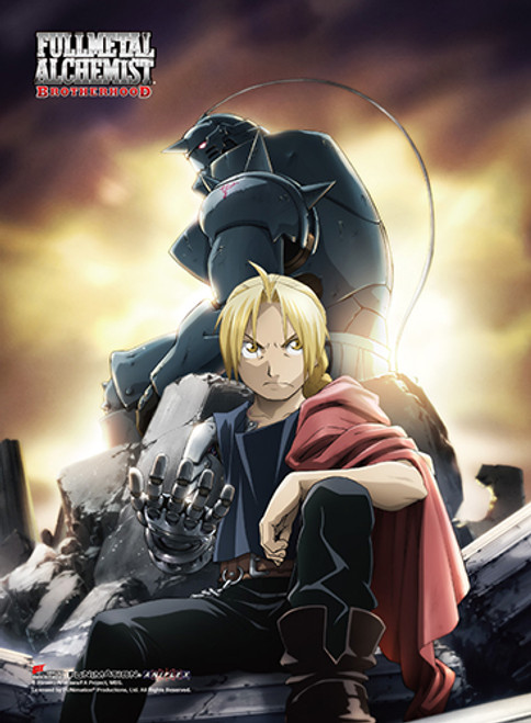 Fullmetal Alchemist Brotherhood - Edward And Alphonse Sitting High End Wall Scroll