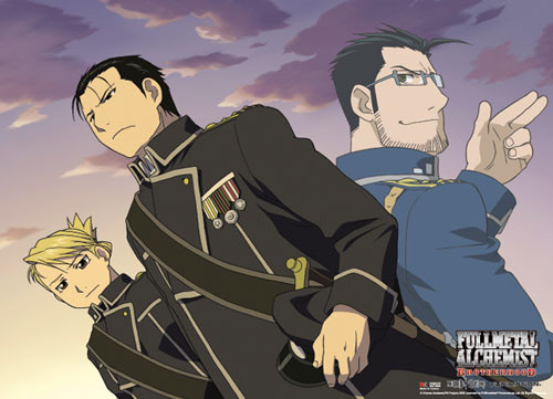 Fullmetal Alchemist Brotherhood - Mustang, Hughes, And Hawkeye Wall Scroll