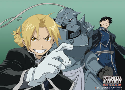 Fullmetal Alchemist Brotherhood - Ed, Al, And Mustang Wall Scroll
