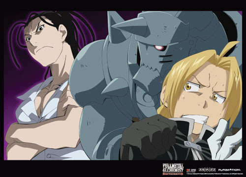 Fullmetal Alchemist Brotherhood - Elric Brothers And Izumi Wall Scroll