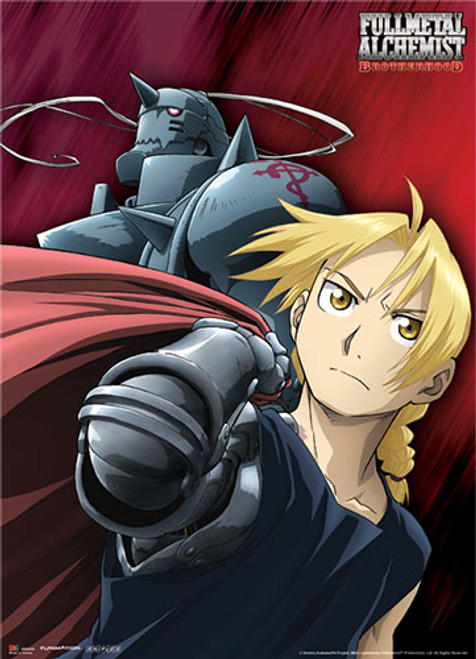 Fullmetal Alchemist Brotherhood - Elric Brothers Wall Scroll