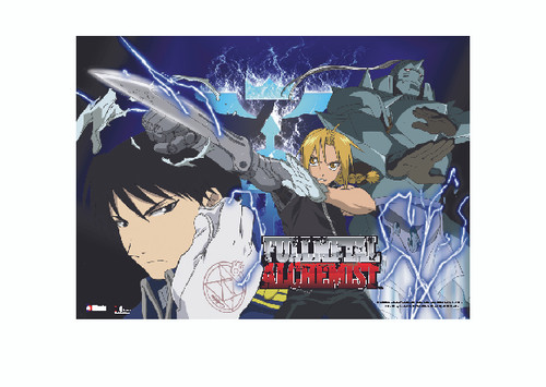 Fullmetal Alchemist - Elric Brothers And Mustang Wall Scroll