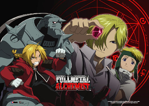 Fullmetal Alchemist - Elric Brothers And The Philosopher Stone Wall Scroll