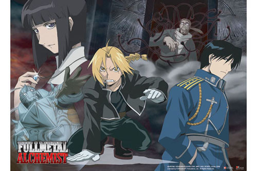 Fullmetal Alchemist - Elric Brothers, Mustang, And The Gate Wall Scroll