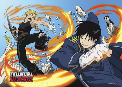 Fullmetal Alchemist - Edward Vs Mustang Wall Scroll
