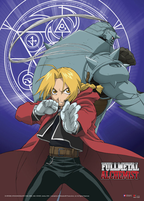 Fullmetal Alchemist - Elric Brothers Fighting Pose Wall Scroll