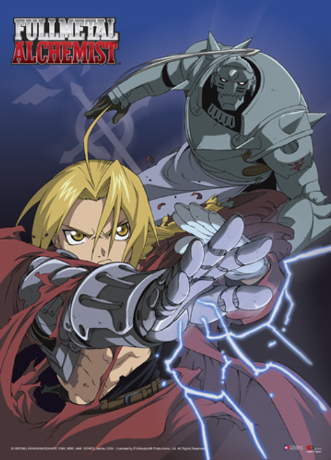 Fullmetal Alchemist - Elric Brothers Fighting Wall Scroll