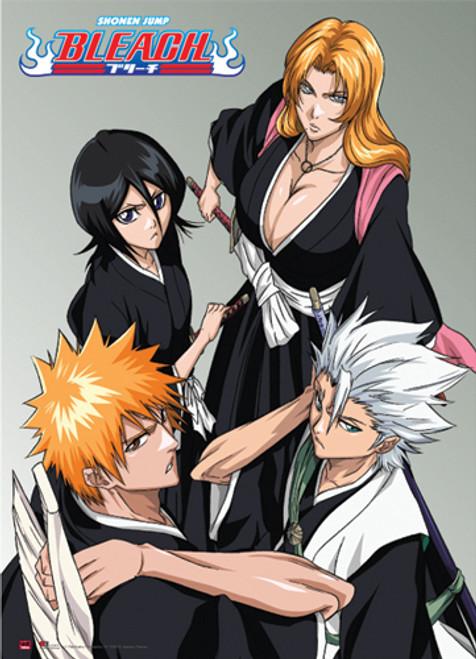 Bleach - Ichigo, Rukia, Hitsugaya, And Rangiku Wall Scroll