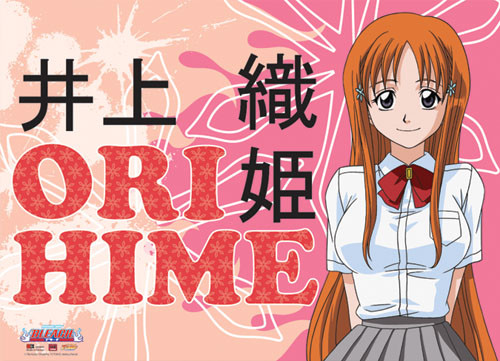 Bleach - Orihime With A Pink Background Wall Scroll