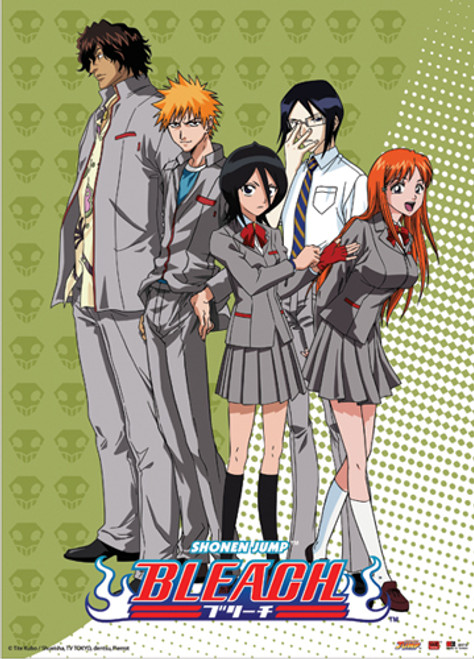 Bleach - Main Characters In School Outfits Wall Scroll