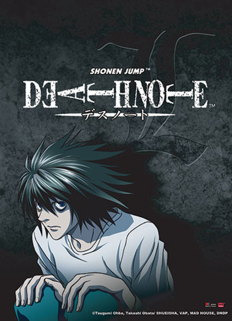 Death Note - L In His Crouching Position  Wall Scroll