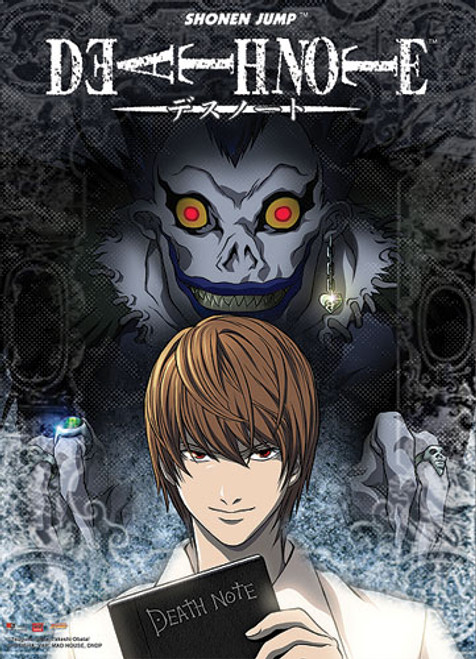 Death Note - Light And Ryuk With The Death Note Wall Scroll