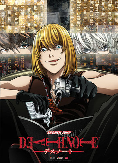 Death Note - Mello Eating Chocolate And Holding A Gun Wall Scroll
