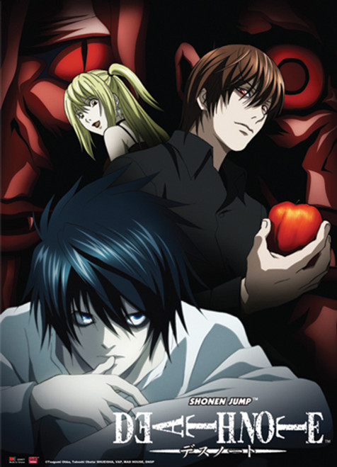 Death Note - L, Light, And Misa Wall Scroll